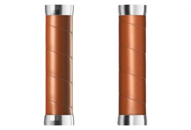 Brooks England Slender Ledergriffe 130 mm Griffe Dark Tan