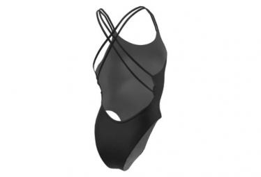 Nike Women's Modern Spiderback On Black One Piece Swimsuit