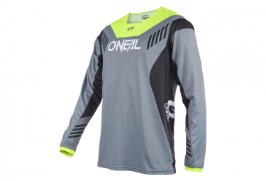 Maillot Manches Longues O'Neal ELEMENT FR HYBRID V.22 Gris/Jaune