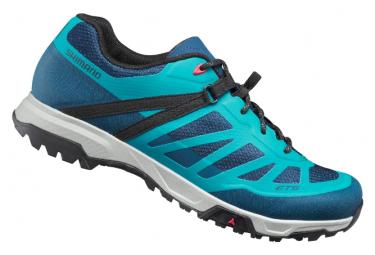 Coppia di scarpe MTB da donna Shimano ET500 Blu