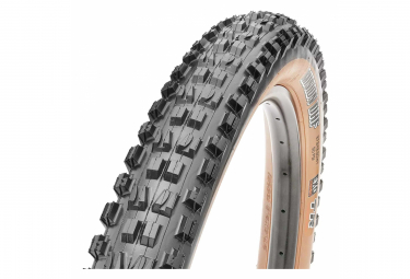 Pneu VTT Maxxis Minion DHF 27,5'' Tubeless Ready Dual Exo Protection Wide Trail (WT) Flancs Beige