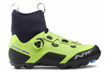 Par de zapatillas MTB Northwave Celsius Xc Arctic Gtx Reflect amarillo fluo