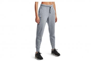 Pantalon Under Armour Rival Fleece Mesh Gris Femme