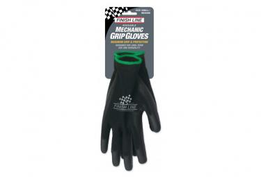Finish Line Mechanic Grip Gloves Black
