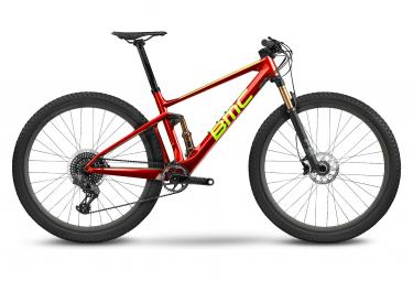 BMC Fourstroke 01 One Full Suspension MTB Sram XX1 Eagle AXS 12S 29'' Red Neon Green 2022