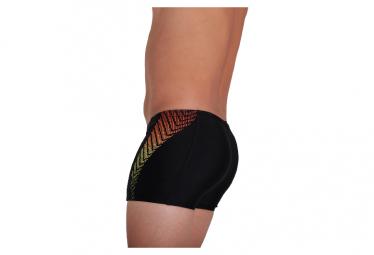 Speedo Plastisol Placement Boxer Swimsuit Black / Red