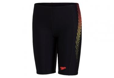 Speedo Plastisol Placement Jammer Swimsuit Black / Red