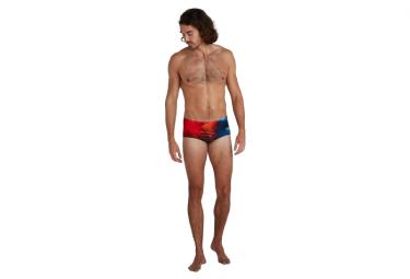 Speedo Placement Digital Brief 14cm Swimsuit Black / Red / Blue