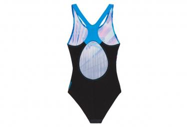 Speedo Digital Splashback Girl's 1 Piece Swimsuit Black / Blue