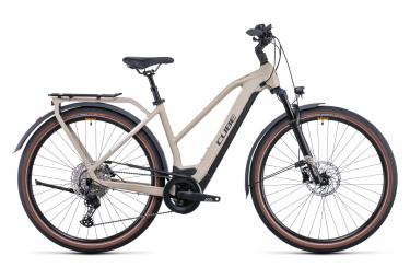 Cube Kathmandu Hybrid Pro 625 Bicicletta elettrica da città a trapezio Shimano Deore 11S 625 Wh 700 mm Desert Beige 2022