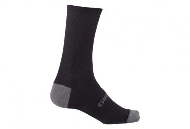 Paio di calzini Giro HRC + Winter Merino Wool Nero/Grigio