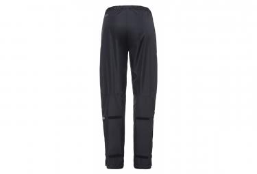 Pantalon de Pluie Femme Vaude Fluid Full-Zip Pants Noir