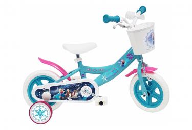 Vélo  10  Licence  Reine de Neiges  pour enfant de 2 à 3 ans avec stabilisateurs à molettes