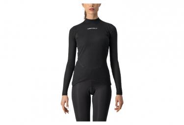Camiseta interior mujer Castelli Flanders 2 W Warm manga larga negro