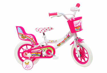 Vélo 12  Fille LICORNE/UNICORN  pour enfant de 3 à 5 ans avec stabilisateurs à molettes