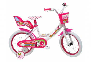 Vélo 16  Fille LICORNE/UNICORN pour enfant de 5 à 7 ans avec stabilisateurs à molettes