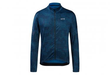 GORE Wear Progress Thermo Sphere Long Sleeve Jersey Blue