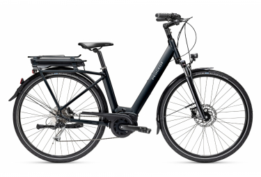Bicicleta de ciudad eléctrica Peugeot eC01 D9 Shimano Alivio 9 V, 400Wh, negro, 2021