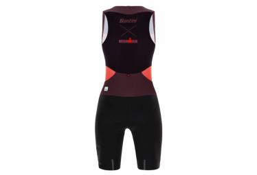 Santini X Ironman Audax Aero Sleeveless Trisuit Black / Coral Women