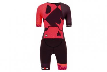 Santini X Ironman CupioCorail Short Sleeve Trisuit Woman