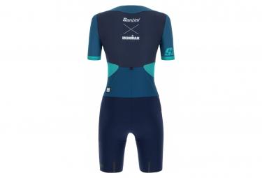 Santini X Ironman Audax Aero Women's Short Sleeve Trisuit Blue