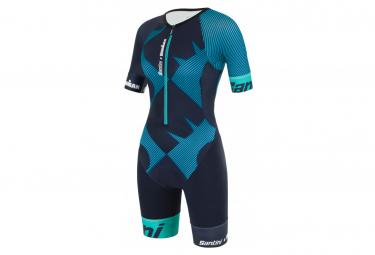 Santini X Ironman Cupio Women's Short Sleeve Trisuit Blue