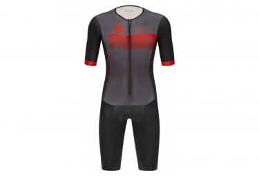 Santini X Ironman Viper Short Sleeve Trisuit Black / Red