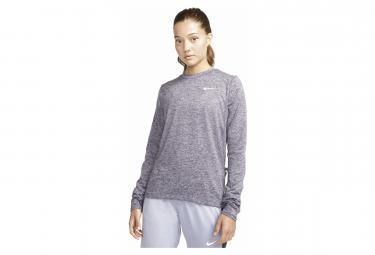 Nike Dri-Fit Element Long Sleeve Jersey Purple Women