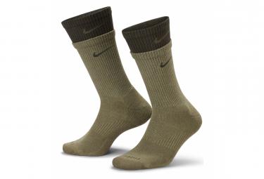 Chaussettes Nike Everyday Plus Cushioned Khaki Unisex