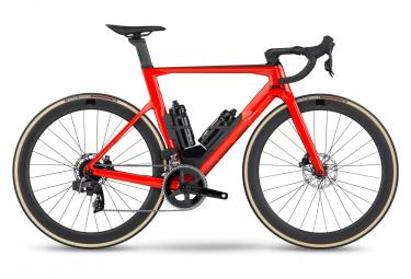 BMC Timemachine Road 01 Tre bici da corsa Sram Rival eTap AXS 12V 700 mm Rosso Nero 2022