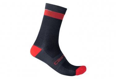 Calcetines Castelli Alpha 18 Sock - Bleu / Rouge
