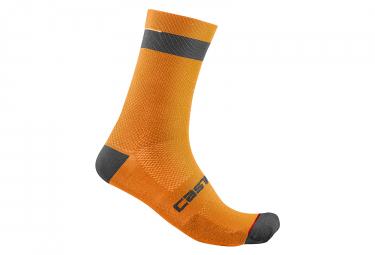 Calcetines Castelli Alpha 18 Sock - Orange