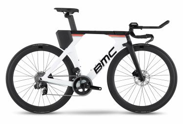 BMC Timemachine 01 Disc Two Triathlon Bike Sram Rival eTap AXS 12V 700 mm Bianco Nero 2022