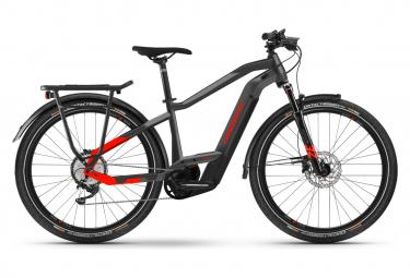 Bicicleta eléctrica híbrida Haibike Trekking 9 Shimano Deore 11S 625 Wh 27.5'' Gris antracita Rojo 2021