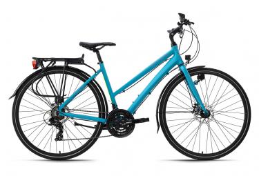 VTC femme 28'' aluminium Antero turquoise TC 53 cm KS Cycling