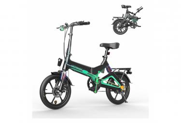 HITWAY Vélo Electrique pliable 250w moteurs batterie Li-ION pliable 7.5A E- Noir