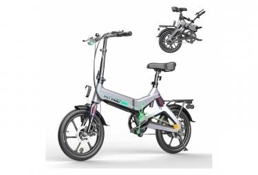 HITWAY Vélo Electrique pliable 250w moteurs batterie Li-ION pliable 7.5A E- Gris