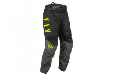 Pantalon Fly Racing Enfant F-16 2022 Gris/Noir/Jaune Fluo