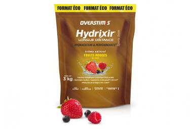 Boisson Énergétique Overstims Hydrixir Longue Distance Fruits Rouges 3kg