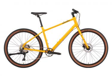 Vélo de Ville Fitness Kona Dew Plus Shimano Deore 10V Jaune 2022