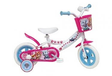 Vélo  10  fille Licence  Stella Pat patrouille  pour enfant de 2 à 3 ans avec stabilisateurs à molettes