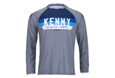 Kenny Elite Kids Long Sleeve Jersey Gray / Blue