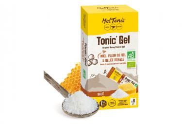8 Gels énergétiques Meltonic Salé BIO Miel Fleur de sel Gelée royale 20g