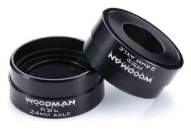Boitier de Pédalier Woodman Zerotwo Press Fit 4624 Noir