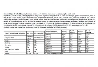 Barre Énergétique CLIF BAR Pepites de chocolat 68g