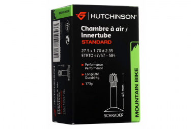 HUTCHINSON Chambre à Air STANDARD 27.5 x 1.70 à 2.35 Schrader 48mm