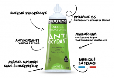 Gel Énergétique Overstims Antioxydant Liquide Pomme Verte