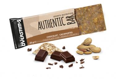 Barre Énergétique Overstims Authentic Bar Chocolat Cacahuetes 65g
