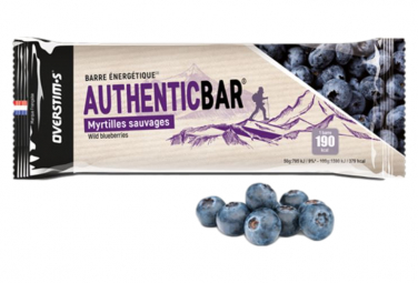 Barre Énergétique Overstims Authentic Bar Fruits Rouges 65g