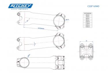 Ritchey Classic C220 6 ° Silver Stem
